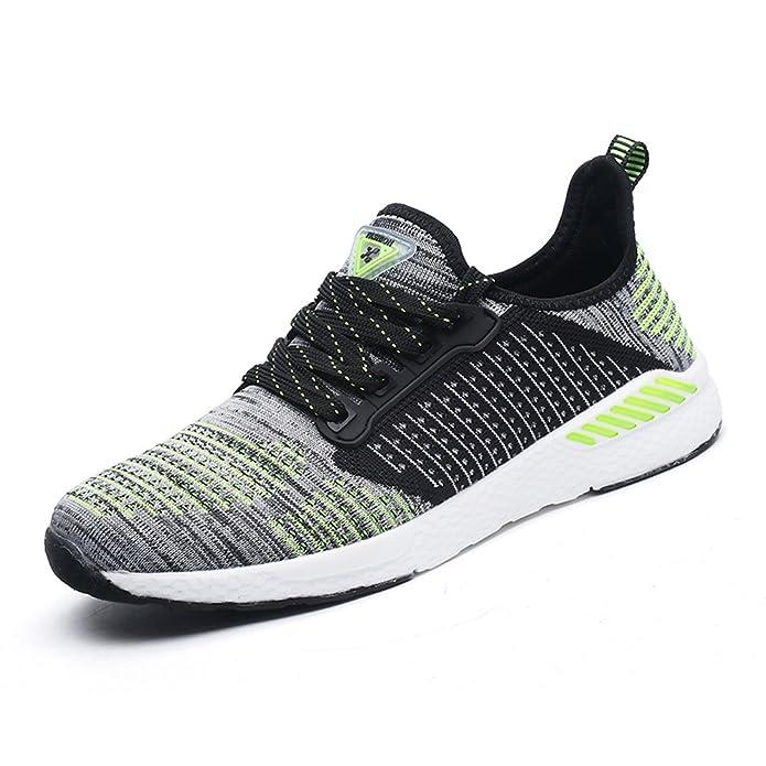 Gomnear Atmungsaktiver Sneaker Mens Frauen Laufen Leicht Paar Beiläufig Mesh Gehen Sportlich Sport Schuhe Green 43 fwWrU