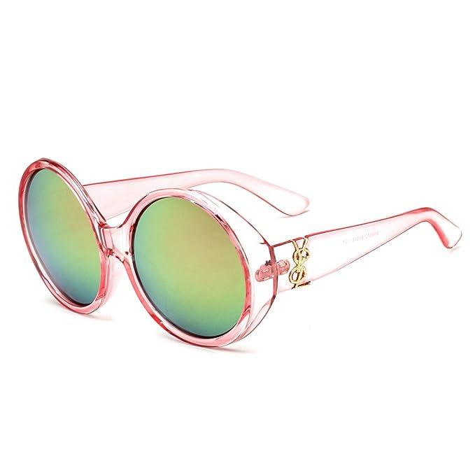 WYXIN Occhiali da sole per donna e uomo, occhiali da sole stile irlandese con montatura grande, stile europeo e americano, specchio per rana di tendenza, G