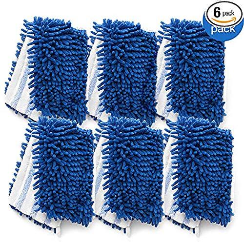 O-Cedar Dual Action Microfiber Flip Mop Refill, Dust/Microfiber Flat Mop Refill, 1 CT (Pack of 6) ...