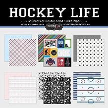 Scrapbook Customs Themed Paper Scrapbook Kit, Hockey Life