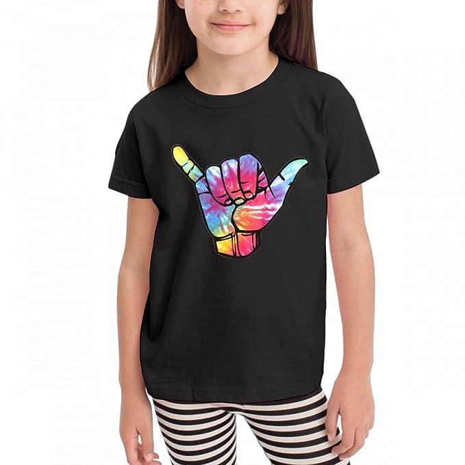 f7eb9d674 Amazon.com  Leopoldson Colourful Bright Tie Dye Shaka Kids Children Short  Sleeve Crew Neck Graphic Tees Tops  Clothing