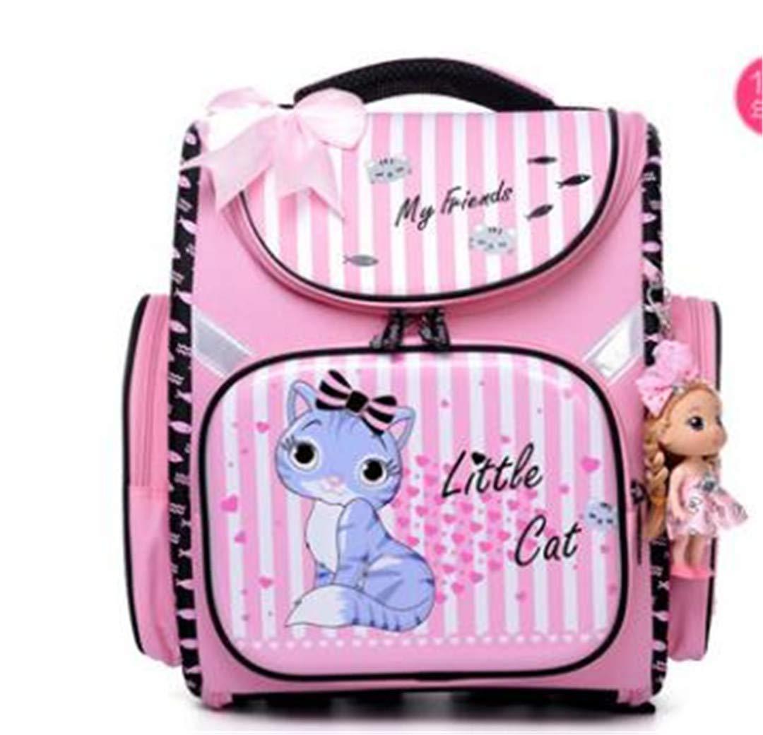 Bambini Cartoon Dogs Cute Bear Girls School Bags Impermeabile pieghevole ortopedico Scuola zaini per bambini Marronee