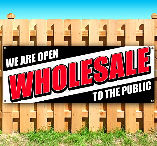 Wholesale to The Public 13 oz Heavy Duty Vinyl Banner Sign with Metal Grommets, New, Store, Advertising, Flag, (Many Sizes Available) -