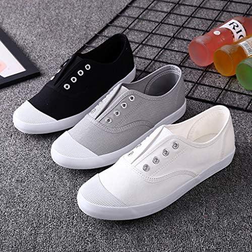スリッポン キャンバス スニーカー メンズ レディース カジュアル 3色 靴 カップル ウォーキングシューズ アウトドア 防滑 通気性 軽量 男女兼用 トリコロール(ブラック、ホワイト、グレー)