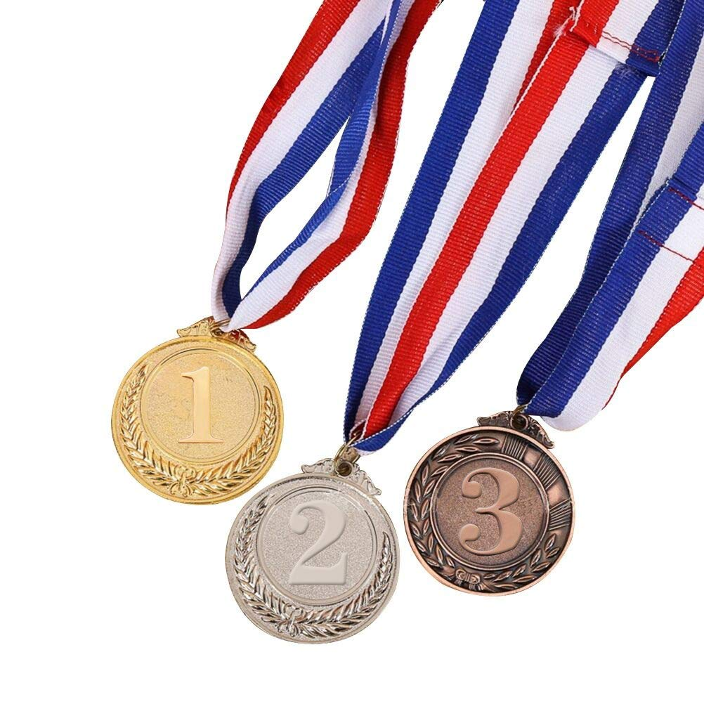 TOYMYTOY 3 Pieces Metal Gold Silver Bronze Award Medals