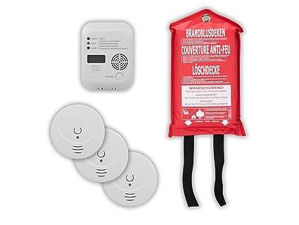 Protección contra incendios de SET9 (3 x Detector de humo + soporte magnético, detector