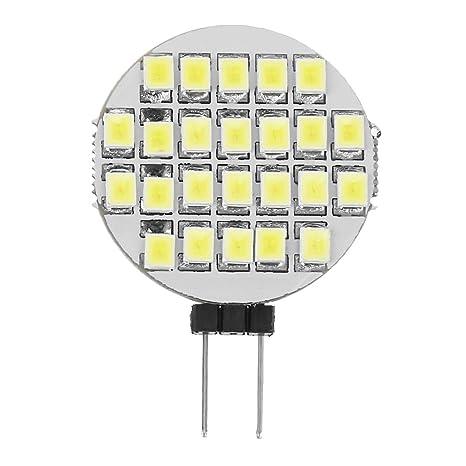 SODIAL(R) G4 5050 SMD 24 LED Luz Lampara Bombilla Blanco Puro para Casa