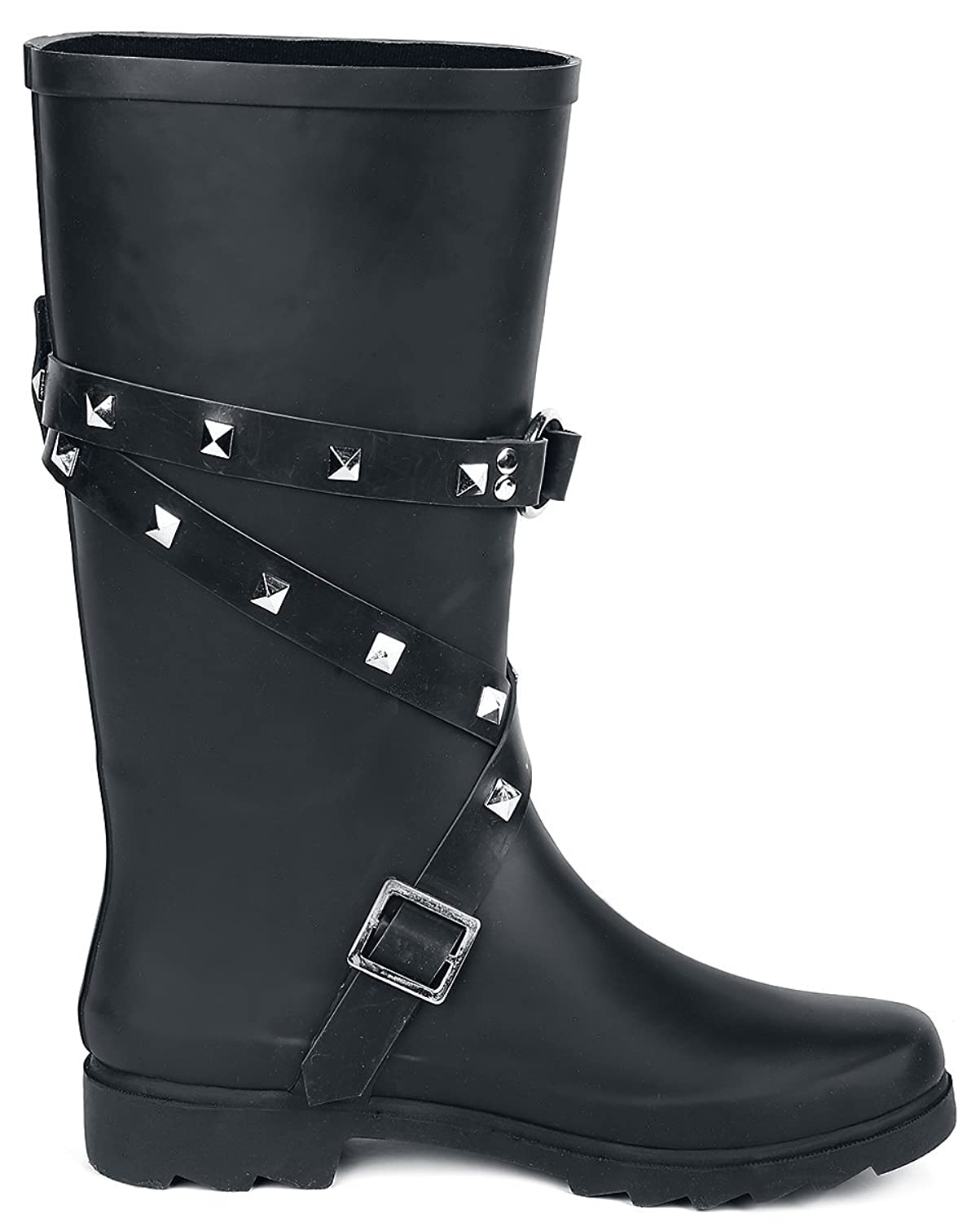Let It Rain Botas de agua Negro Black Premium by EMP Ghs27voHQ