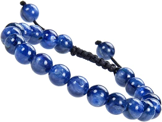 Blue Kyanite and Blue Tigers Eye beaded Bracelet hand beaded copper chainyoga jewelry  high quality beads Chakra bracelet belly dancing