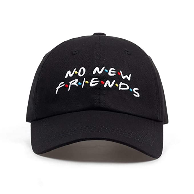 98012c7b6c1 no New Friends Embroidery dad Hat Men Women Trending Rare Baseball Cap  Snapback Hip Hop Cap