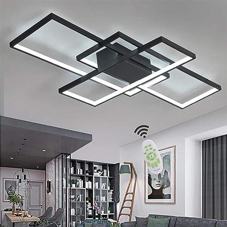Wohnzimmerlampe LED Deckenleuchte Dimmbar Deckenlampe mit Fernbedienung,  80W Schlafzimmerlampe Modern Decke Aluminium Pendelleuchte Design Lampen ...