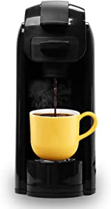 Caynel Upgrade Single Serve Maker Brewer for K-Cup Pods Coffee-Grounds & Loose-Leaf Tea, 30s Rapid Brewing Technology with Large Removable 14 oz Water Tank