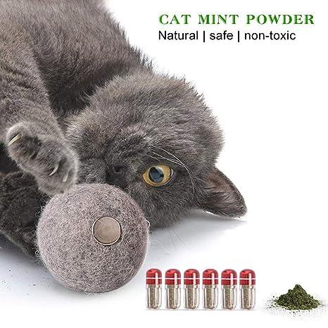 Umiwe Catnip Mint Toys - Juguete de Felpa Catnip, Bolas de Lana Suave de Catnip