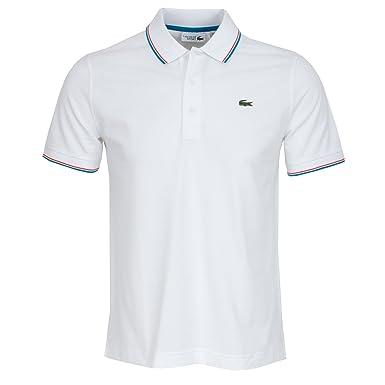 Polo Lacoste blanc pour homme  Amazon.fr  Vêtements et accessoires 5ffb7ffdf3fb