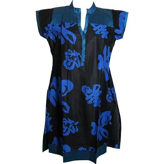 Yoga Trendz Indian Ethnic Style Cotton Mandarin Collar Short ...