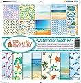 Ella & Viv Watercolor Beach Scrapbook Collection Kit