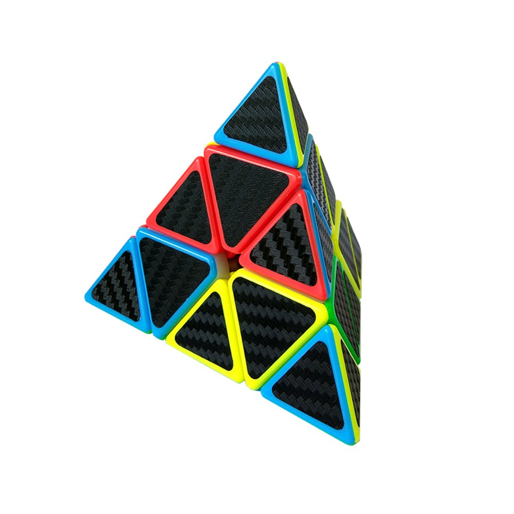 Wings of wind Pyraminx Speed Magic Cube Carbon Fiber Sticker Cube 3x3 Pyramind Magic Cube