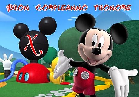 Tavolo Compleanno Topolino : Wfwd cialda in ostia per torta rettangolare topolino