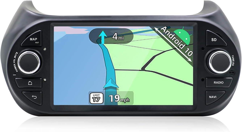 YUNTX Android 10 Autoradio Compatible con Fiat Fiorino/Qubo/Citroën Nemo/ Peugeot Bipper: Amazon.es: Electrónica