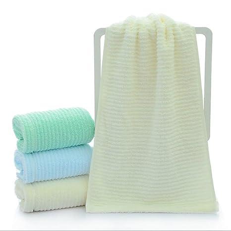 BXYR Toallas Juego de 4 toallas 100% Toallas faciales Toalla suave ...