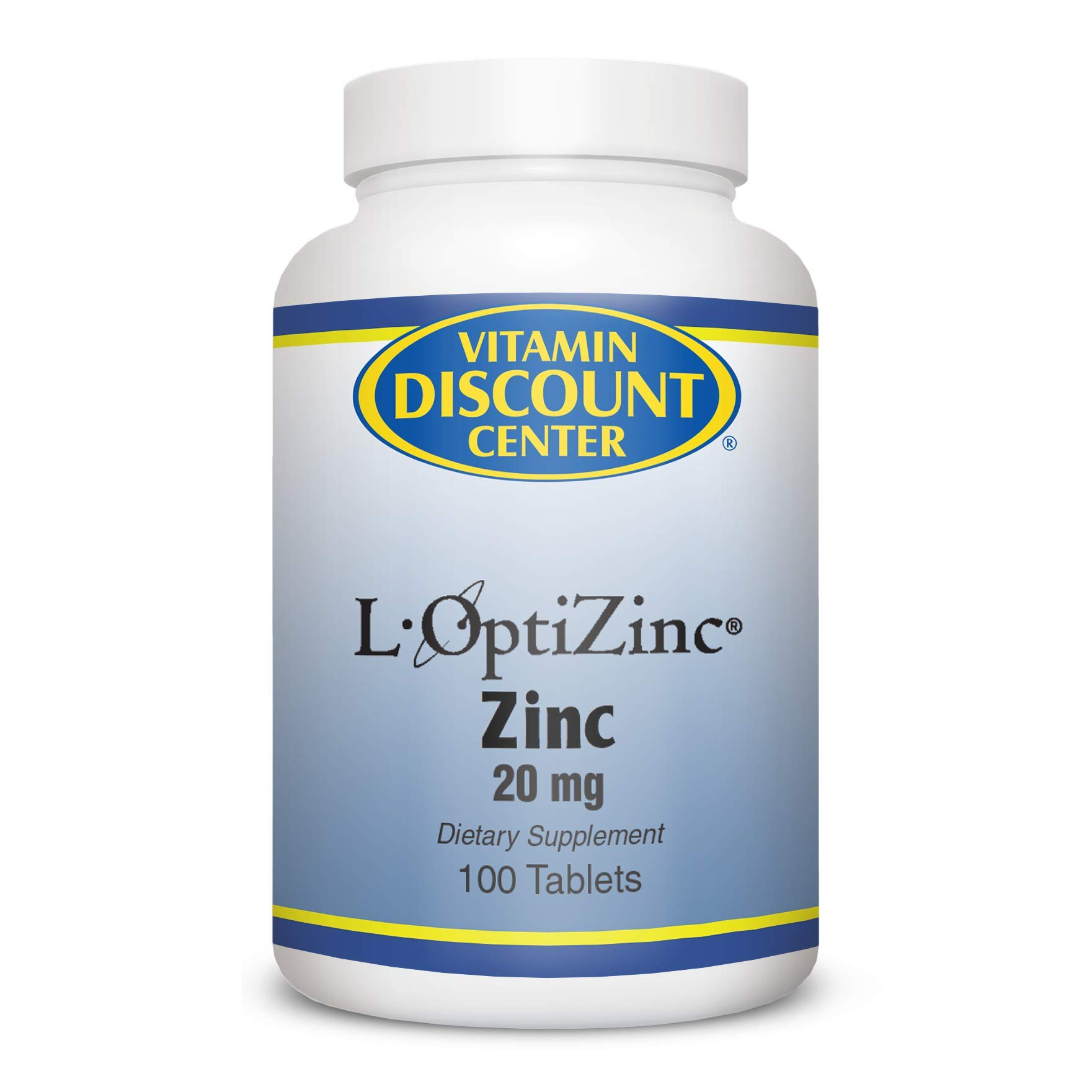 Vitamin Discount Center Zinc Supplement 20 mg, 100 Tablets