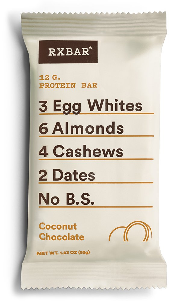 RXBAR Whole Food Protein Bar, Coconut Chocolate, 1.83 Ounce (Pack of 12)