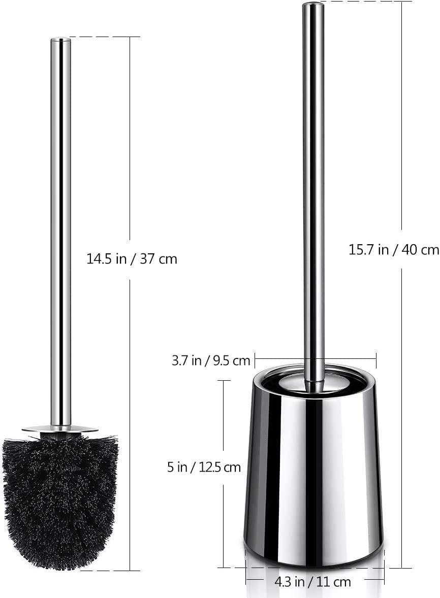 Dauerhaft Klob/ürste f/ür Badezimmer WC 304 Edelstahl Toilettenb/ürste und Bh/älter 2er Pack mit L/ängere Griff Homemaxs WC B/ürste L/üftungsdesign ohne Geruch