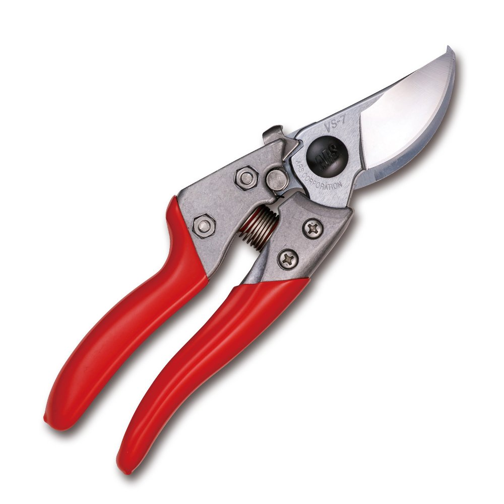 ARS HP-VS7XZ Heavy-Duty Hand Pruner, 7'', Red Handles by ARS