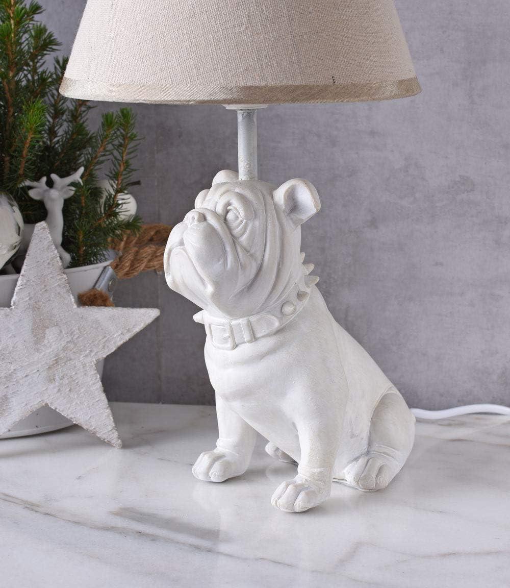 Mops Lampe Madame Carlin Tischlampe Hund Tischleuchte Bulldogge Nachttischlampe