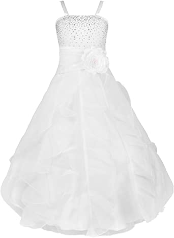 Rouge Foncé Filles Fleur Filles demoiselles d/'honneur robe de fête de mariage Taille 2 4 6 8 10