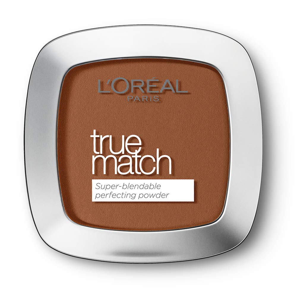 L'Oreal Paris True Match Pressed Powder Foundation, Buildable and Lightweight Matte Finish, 9N Deep Natural