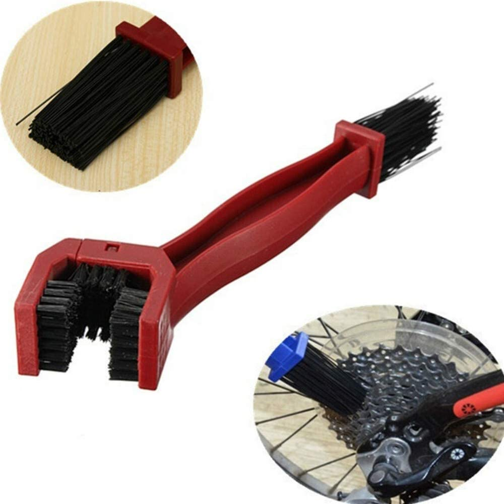 NO LOGO HYCSP Universal Motorcycle Chain Cleaner Gear Maintenance Rim Care Cleaner Tire Cleaning Brush for Honda Yamaha