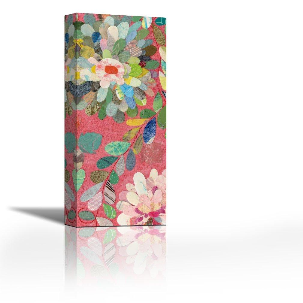 Karmakara Red And Pink Dahlia V Fine Art Print On Fine Art Canvas Stretched Gallery Wrap Style Wall Decor Painting Living Room Bedroom Drawing Room Ready To Hang Print 7 X