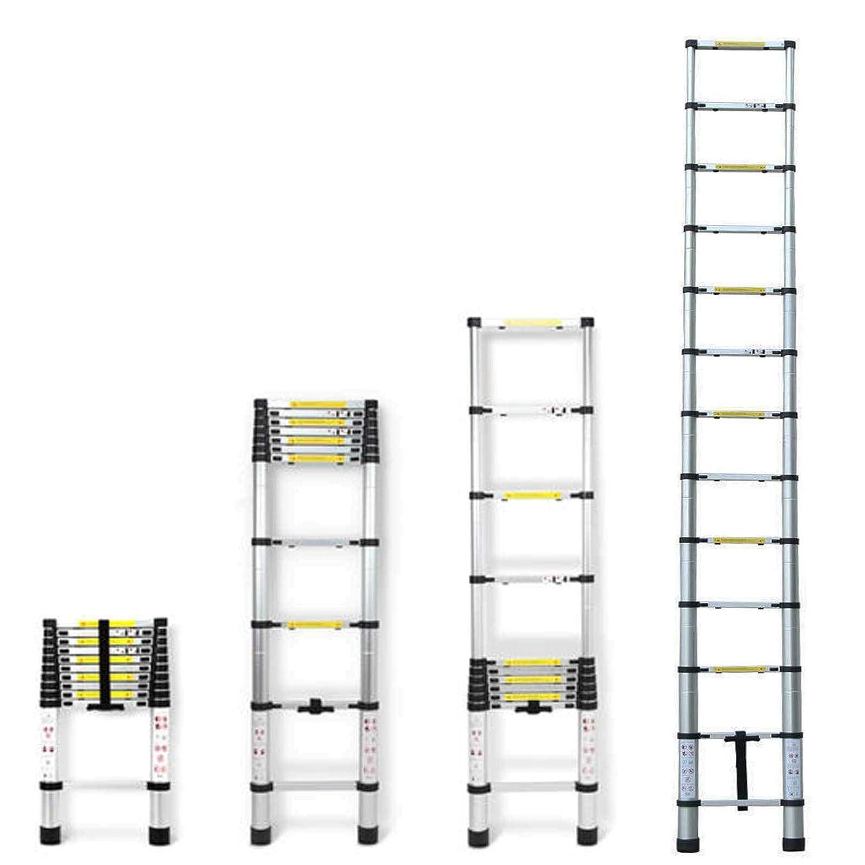 2,6m Teleskopleiter Mehrzweckleiter f/ür Dachboden//Kletterdach//B/üronutzung//Baujob Ausziehbar Aluleiter Rutschfeste Stufen 150 Kg Belastbar