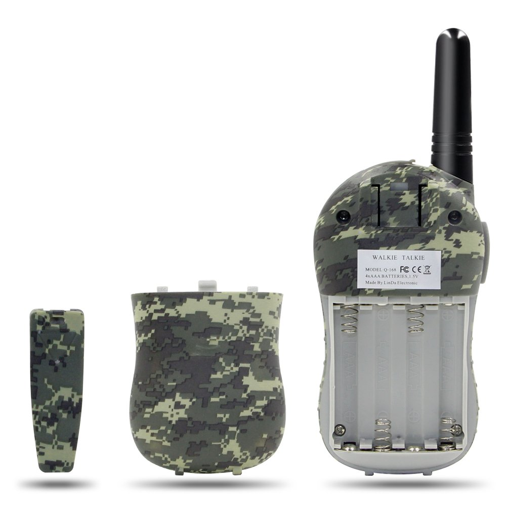 Qniglo Kids Walkie Talkies 2 Way Radio 3 Miles Long Range 22 Channels Walkie Talkies Kids Outdoor Camping Toys Gifts Boys Girls (Camouflage Green) by Qniglo (Image #3)