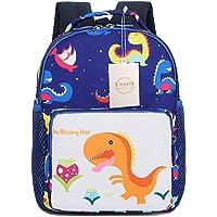 Uworth Mochila Para Niños de Dinosaurios Mochila Escolar Infantil Niño con Arnes Azul