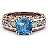 Clearance!!Women'S Rose Gold Floral Bridal Engagement Rings,Beautytop Diamond Rings For Women Fashion Simple Shiny Jewelry Lovers Ring,Women Gift Sets Sale
