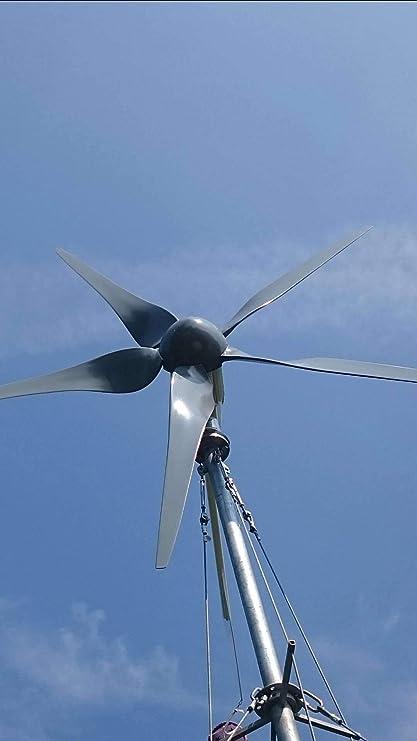 375860a8589 Tumo-Int 1000W Aerogenerador de 5 Paletas con Controlador de MPPT (48V)   Amazon.es  Bricolaje y herramientas
