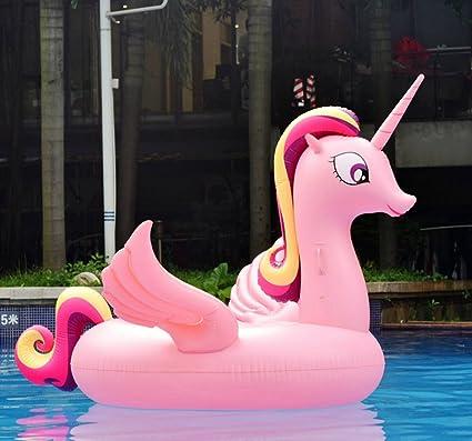Maison Jardin Casa jardín gran boya flotador rosa unicornio para fiestas de piscina juguete hinchable de