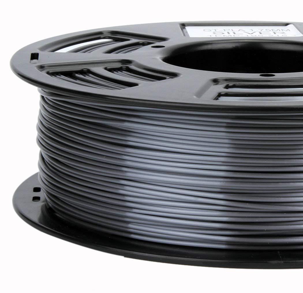 Stronghero3d 1.75mm PLA 3D Printer Filament Metal Grey- 1kg Spool (2.2 lbs) - Dimensional Accuracy +/- 0.05mm