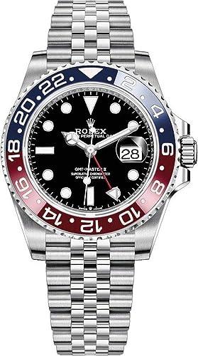 Rolex GMT-Master II Pepsi 126710BLRO Reloj de Lujo para Hombre: Amazon.es: Relojes