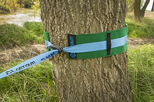 """Get Out! Tree Protector Wrap 2 Pack, 40"""" x 6"""" Inches Tree Guards Classic Slackline Rope Hammock"""
