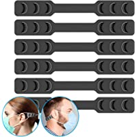 FCXJTU Mask Ear Hook Strap Extender Holder Adjustable Anti-Slip Ear Savers Protector for Various Masks, Special for Relieving Long-time Wearing Ears' Pressure&Pain for Nurse,Dust-Workers, Food-Workers (6Pcs)