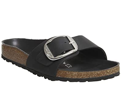 4eedfc932b0 Birkenstock Madrid Big Buckle Regular Fit - Black 1006522 (Leather) Womens  Sandals 36 EU