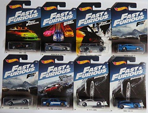 Hot Wheels 2017 Fast & Furious Exclusive Bundle of 8 (Gt3 Porsche Cup)
