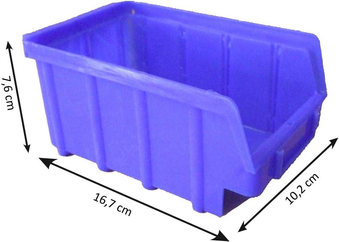 2 Stück Lagerbox Stapelkasten Obststeige 60x40x20 cm grau Gastlando