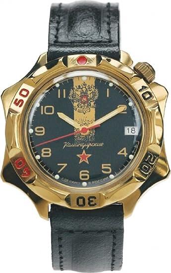Vostok KOMANDIRSKIE 539792/2414 un militar ruso de las fuerzas especiales reloj negro