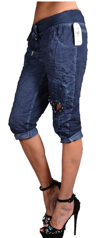 b1a42cf846 Damen Sommer Leichte Shorts Spitze Hose Chino Bermuda Pumphose 34 36 38 40  42 XS S M L Blau Leggjngs Jeans Jeggings Skinny (42): Amazon.de: Bekleidung