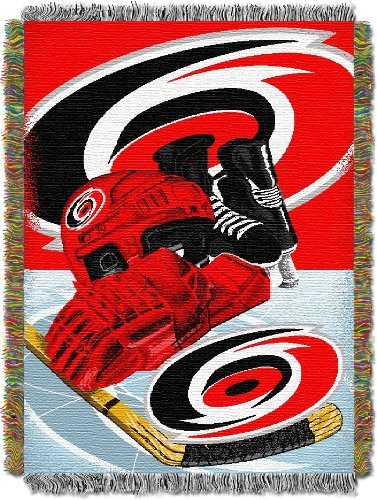 fan products of NHL Carolina Hurricanes Homefield Ice Advantage Woven Tapestry Throw, 48