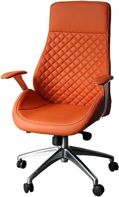 "Bürodrehstuhl Designer Drehstuhl Chefsessel /""GT/"" orange Racer Car Seat 212604"
